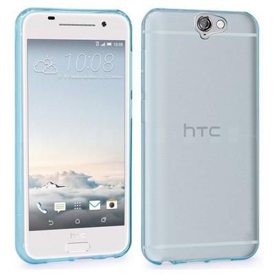 Microsonic Htc One A9 Kılıf Transparent Soft Mavi Cep Telefonu Kılıfı