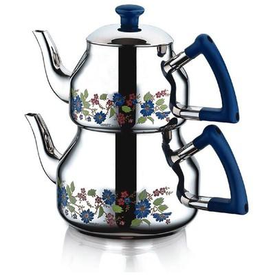 Özkent Marmaris Mini Boy Desenli Çaydanlık Takımı Çaydanlık & Cezve
