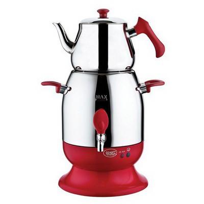 Özkent K623 Marmaris Semaver - Kırmızı Çay Makinesi