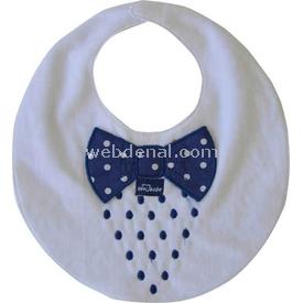 Sevi Bebe 27  Beyaz-lacivert Mama Önlüğü
