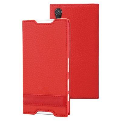 Microsonic Sony Xperia Z5 Kılıf Gizli Mıknatıslı Delux Kırmızı Cep Telefonu Kılıfı