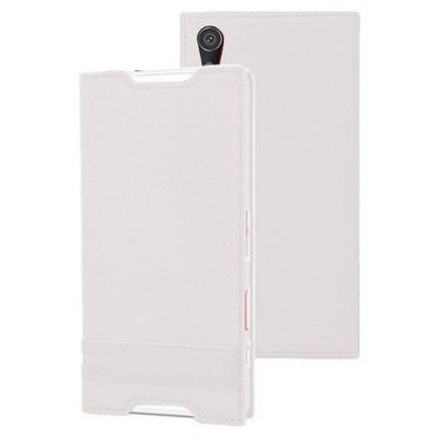 Microsonic Sony Xperia Z5 Kılıf Gizli Mıknatıslı Delux Beyaz Cep Telefonu Kılıfı