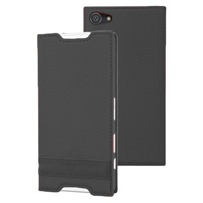Microsonic Sony Xperia Z5 Compact (z5 Mini) Kılıf Gizli Mıknatıslı Delux Siyah Cep Telefonu Kılıfı