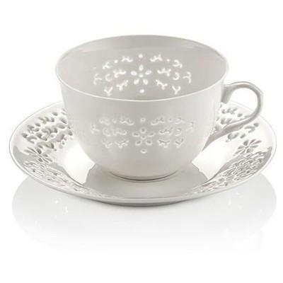 Neva N604 Daisy Dantels 12 Prç. Beyaz Çay Takımı Fincan Takımı