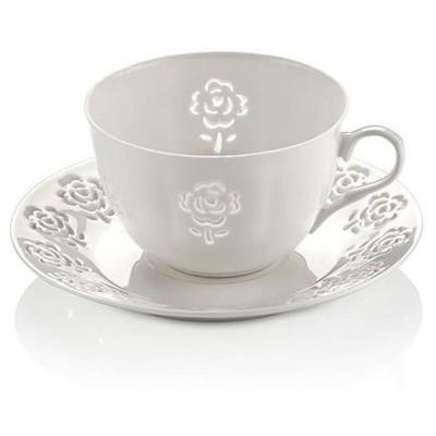 Neva N607 Rosemary Dantels 12 Prç. Beyaz Çay Takımı Çay Seti