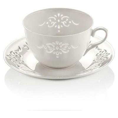 Neva N608 Palace Dantels 12 Prç. Beyaz Çay Takımı Çay Seti