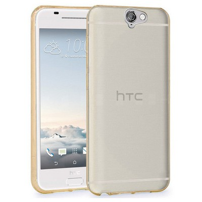 Microsonic Htc One A9 Kılıf Transparent Soft Gold Cep Telefonu Kılıfı