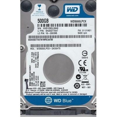 WD Blue 500GB Hard Disk - WD5000LPCX