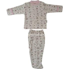 Bebitof Bbt-572 Bebek 2'li Zıbın Takımı Krem-pembe 0 Ay (50-56 Cm) Kız Bebek Takım