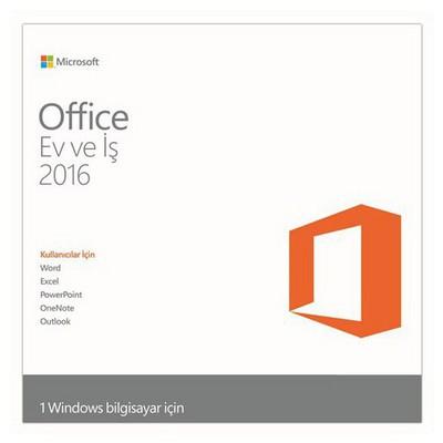 Microsoft Ms Offıce 2016 Home And Busıness Turkce Kutu T5d-02296 Ofis Yazılımı
