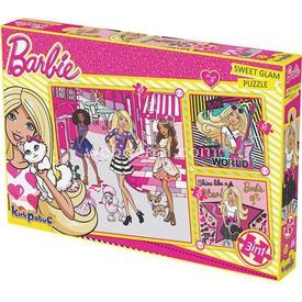 Kirkpapuç Barbie Sweet Glam Çocuk Puzzle