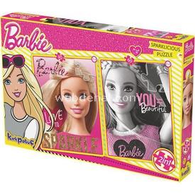 Kirkpapuç Barbie Sparklicious Çocuk Puzzle