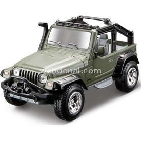 Maisto Metal Forces Jeep Wrangler Rubicon 10 Cm Yeşil Kamuflaj Arabalar