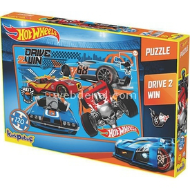 Kirkpapuç Hot Wheels Drive 2 Win Çocuk Puzzle