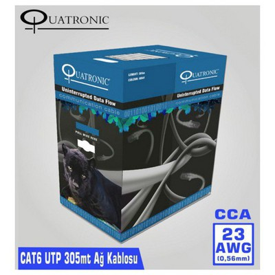 Quatronic Cat6 305m 23awg (0,56mm) Utp Ağ Kablosu Network Kablosu