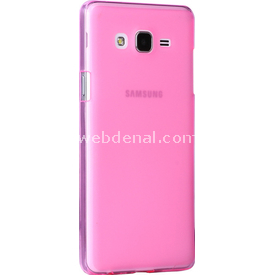Microsonic Samsung Galaxy On7 Kılıf Transparent Soft Pembe Cep Telefonu Kılıfı