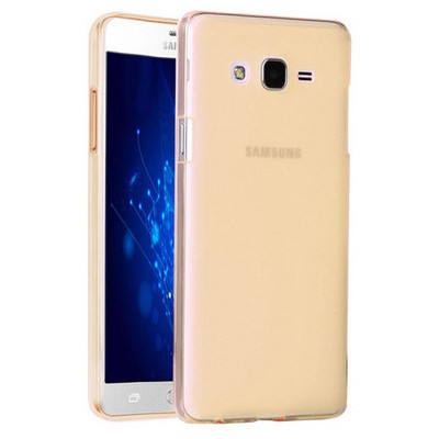 Microsonic Samsung Galaxy On5 Kılıf Transparent Soft Gold Cep Telefonu Kılıfı