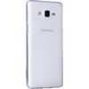 Microsonic Samsung Galaxy On5 Kılıf Transparent Soft Beyaz Cep Telefonu Kılıfı