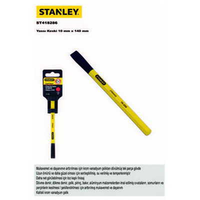 Stanley St418286 Yassı Keski, 10x140mm Pense, Kerpeten, Keski