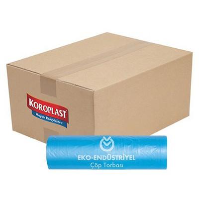 Koroplast Endüstriyel Çöp Poşeti Battal Boy 72x95 Cm 1 Koli 10 Adet Çöp Torbaları