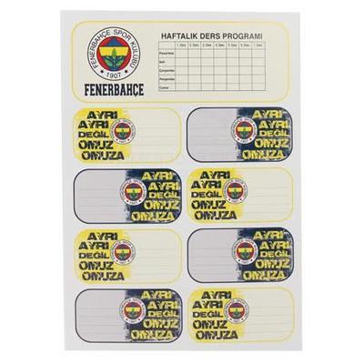 Hakan Çanta Fenerbahçe Ders Programlı Okul Etiketi 3'lü Fenerbahçe Ürünleri