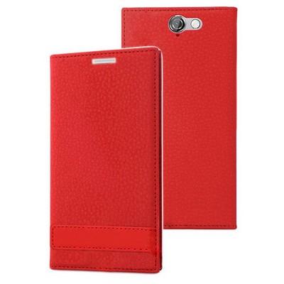 Microsonic Htc One A9 Kılıf Gizli Mıknatıslı Delux Kırmızı Cep Telefonu Kılıfı
