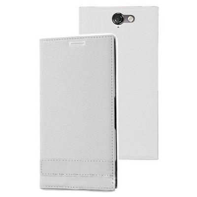 Microsonic Htc One A9 Kılıf Gizli Mıknatıslı Delux Beyaz Cep Telefonu Kılıfı