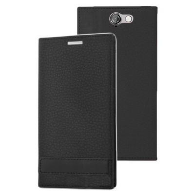 Microsonic Htc One A9 Kılıf Gizli Mıknatıslı Delux Siyah Cep Telefonu Kılıfı