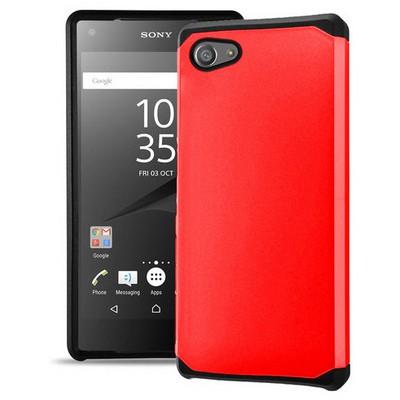 Microsonic Sony Xperia Z5 Compact (z5 Mini) Kılıf Slim Fit Dual Layer Armor Kırmızı Cep Telefonu Kılıfı