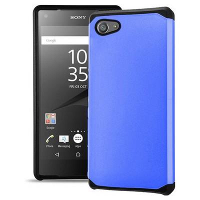 Microsonic Sony Xperia Z5 Compact (z5 Mini) Kılıf Slim Fit Dual Layer Armor Mavi Cep Telefonu Kılıfı