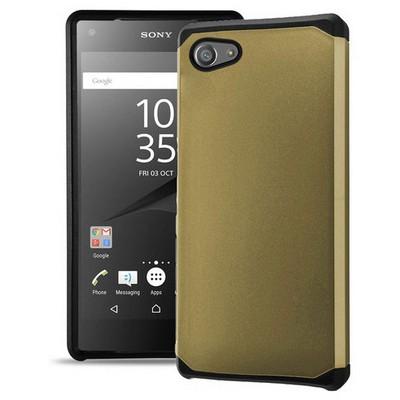 Microsonic Sony Xperia Z5 Compact (z5 Mini) Kılıf Slim Fit Dual Layer Armor Gold Cep Telefonu Kılıfı
