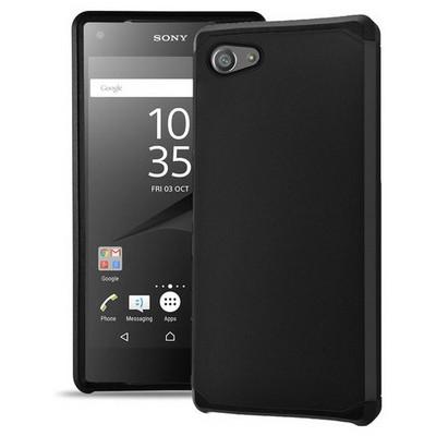 Microsonic Sony Xperia Z5 Compact (z5 Mini) Kılıf Slim Fit Dual Layer Armor Siyah Cep Telefonu Kılıfı