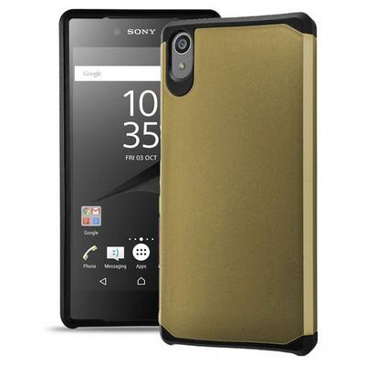 Microsonic Sony Xperia Z5 Kılıf Slim Fit Dual Layer Armor Gold Cep Telefonu Kılıfı