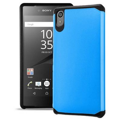 Microsonic Sony Xperia Z5 Kılıf Slim Fit Dual Layer Armor Mavi Cep Telefonu Kılıfı