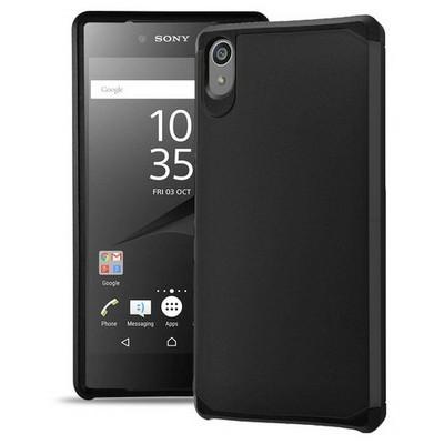 Microsonic Sony Xperia Z5 Kılıf Slim Fit Dual Layer Armor Siyah Cep Telefonu Kılıfı