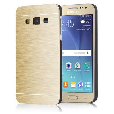 Microsonic Samsung Galaxy J2 Kılıf Hybrid Metal Gold Cep Telefonu Kılıfı
