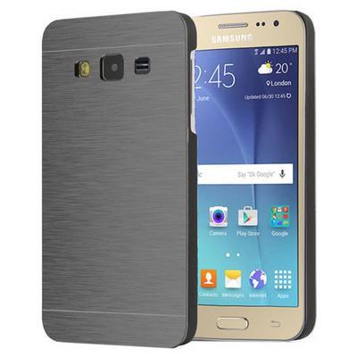 Microsonic Samsung Galaxy J2 Kılıf Hybrid Metal Siyah Cep Telefonu Kılıfı
