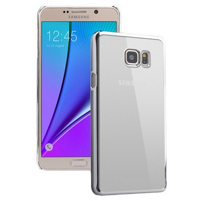 Microsonic Samsung Galaxy Note 5 Kılıf Metalik Transparent Gümüş Cep Telefonu Kılıfı
