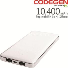Codegen X10w 10400 Mah Beyaz Powerbank Taşınabilir Şarj Cihazı