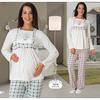 mecit-lohusa-2-li-pijama-takim-mint-yesil-xl