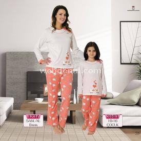 Mecit Bayan Pijama Takım Somon Xl Gecelik & Pijama