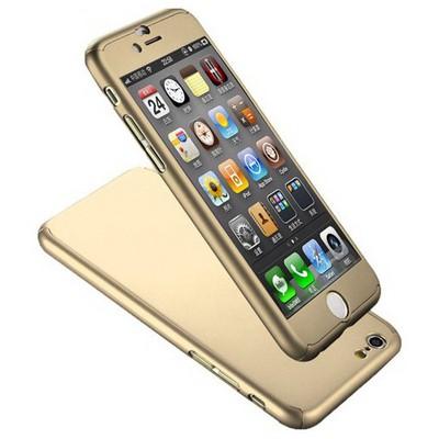 Microsonic Iphone 6s Plus Kılıf Komple Full Gövde Koruma Gold Cep Telefonu Kılıfı