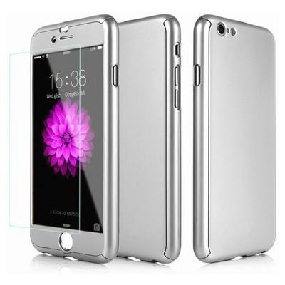 Microsonic Iphone 6s Plus Kılıf Komple Full Gövde Koruma Gümüş Cep Telefonu Kılıfı