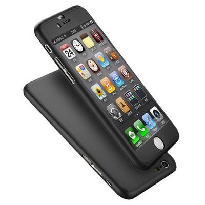 Microsonic Iphone 6s Plus Kılıf Komple Full Gövde Koruma Siyah Cep Telefonu Kılıfı
