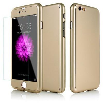 Microsonic Iphone 6 Plus Kılıf Komple Full Gövde Koruma Gold Cep Telefonu Kılıfı
