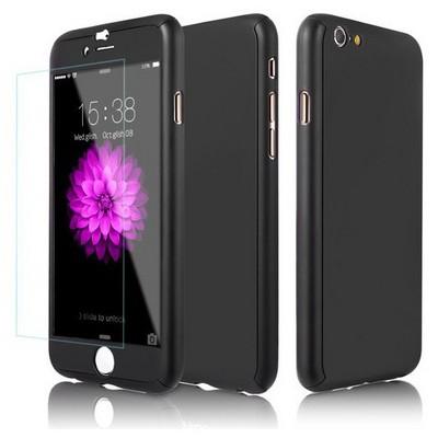 Microsonic Iphone 6 Plus Kılıf Komple Full Gövde Koruma Siyah Cep Telefonu Kılıfı