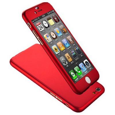 Microsonic Iphone 6s Kılıf Komple Full Gövde Koruma Kırmızı Cep Telefonu Kılıfı