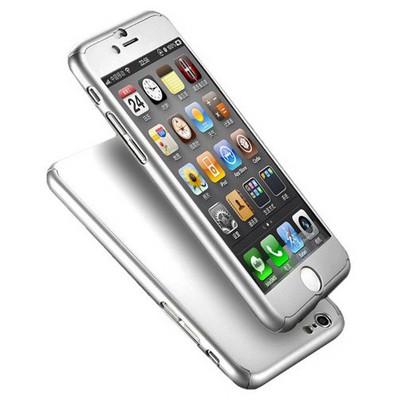 Microsonic Iphone 6 Kılıf Komple Full Gövde Koruma Gümüş Cep Telefonu Kılıfı
