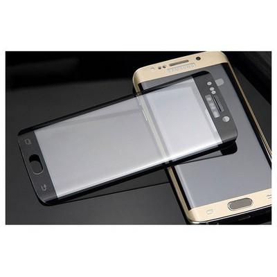 Microsonic Samsung Galaxy S6 Edge 3d Kavisli Temperli Cam Ekran Koruyucu Kırılmaz Film Siyah Ekran Koruyucu Film