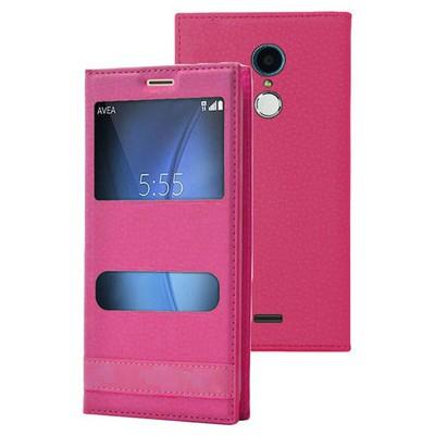 Microsonic Türk Telekom Tt175 Kılıf Dual View Gizli Mıknatıslı Pembe Cep Telefonu Kılıfı